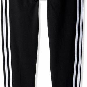 adidas Girls' Performance Tights 3 Stripe Black